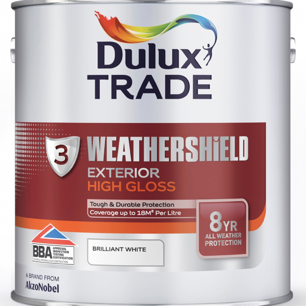 Dulux trade weathershield exterior high gloss custom mixed - Weathershield exterior paint system ...
