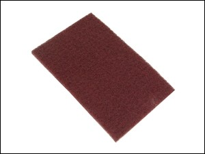 34005 Non-woven Hand Pad Maroon Standard Very Fine x 10