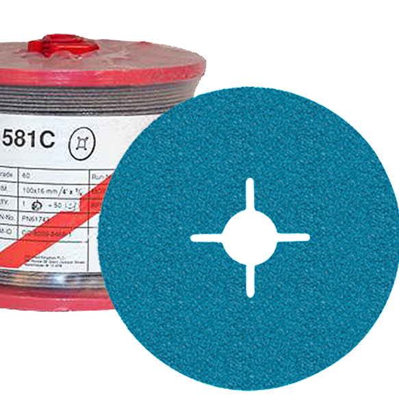 3M 581C Fibre Disc 125mm x 22mm (pk50)