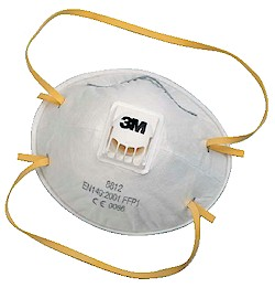 3M 8812 Disposable Mist Dust Respirator FFP1