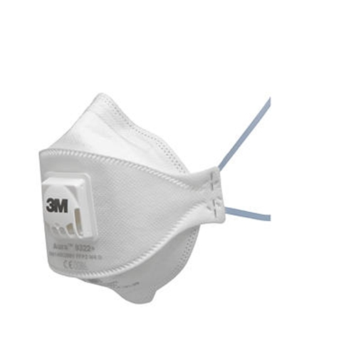 3M Aura 9322+ Valved Dust and Mist Disposable Respirators FFP2
