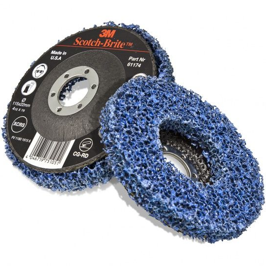3M CG-RD Scotch-Brite Clean & Strip GP Blue Rigid Disc 115mm x 22mm XCRS