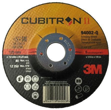 3M Cubitron II Depressed Center Grinding Wheel T27 (Box of 10)