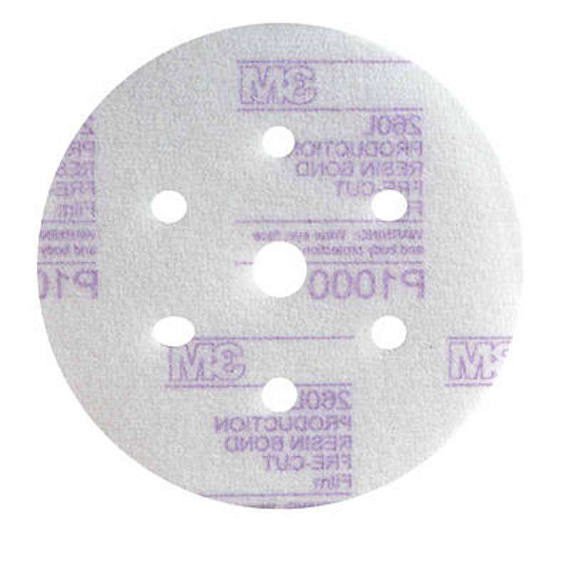 3M Hookit Disc 260L 150mm P1500 (Box of 50) 7 Hole