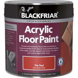 Blackfriar Acrylic Floor Paint Standard Colours