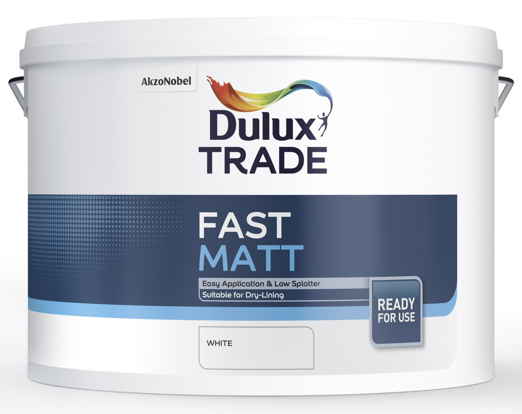 Dulux trade fast matt custom mixed colours 10l for Can you use emulsion paint on canvas