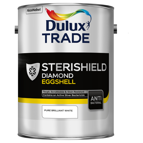 Dulux Trade Sterishield Quick Dry Eggshell Custom Mixed Colours 5L