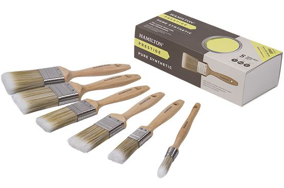 Hamilton Prestige Synthetic 5 Brush Box Set plus Free Sash Brush