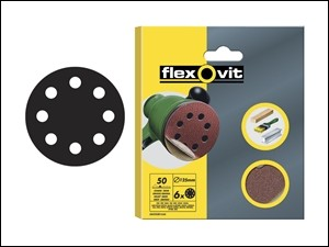 Hook & Loop Sanding Discs 125 mm Fine 120g (6)