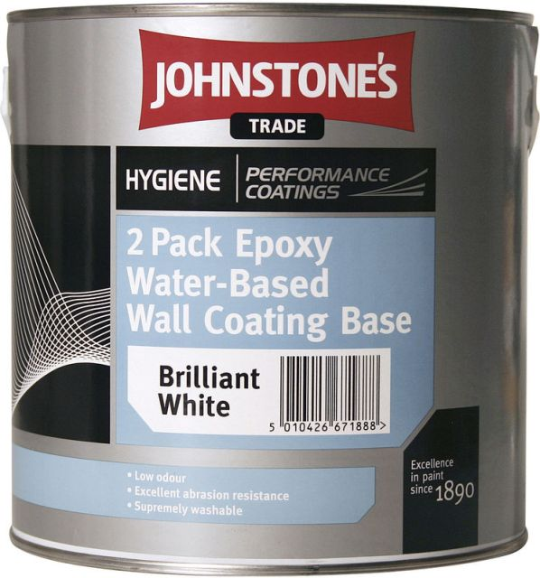 Johnstones Trade Hygiene 2 Pack Epoxy Water Based Wall Coating 2.5L