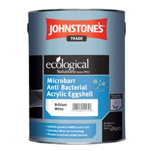 Johnstones Trade Microbarr Anti Bacterial Acrylic Eggshell Custom Mixed Colours 5L