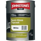 Johnstones Trade Steel & Cladding Semi-Gloss Topcoat Black 5L