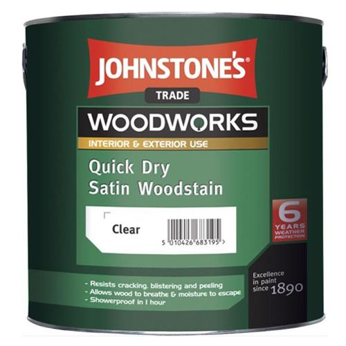 Johnstones Trade Woodworks Quick Dry Satin Woodstain
