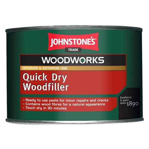 Johnstones Trade Woodworks Quick Dry Wood Filler 450g