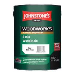 Johnstones Trade Woodworks Satin Woodstain 2.5L