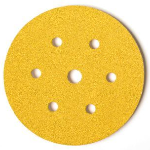 Mirka Gold Grip Discs 150mm 6 + 1 hole pk100