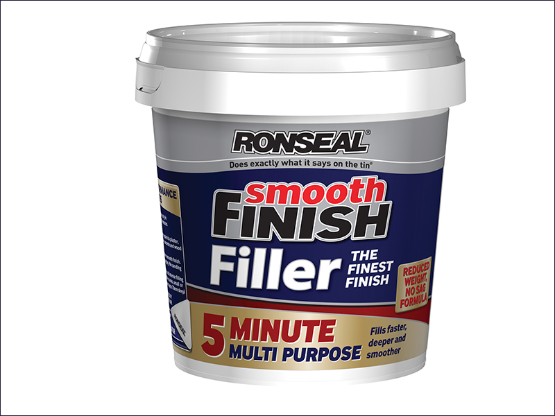 Ronseal Smooth Finish 5 Minute Multi Purpose Filler Tub 600ml