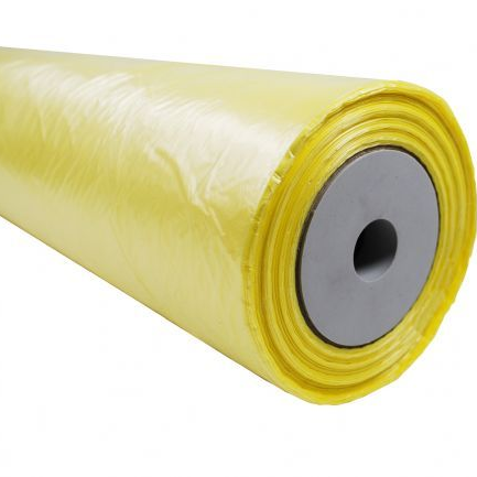 Yellow Polythene Sheeting Roll 4m wide x 150m long