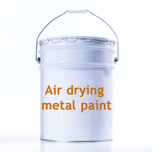Air drying metal paint