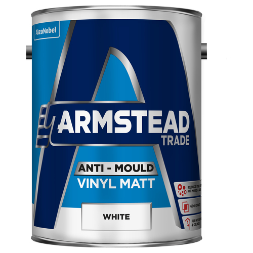 Armstead Trade Anti-Mould Vinyl Matt White 5L