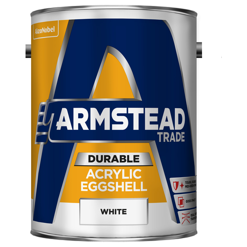 Armstead Trade Durable Acrylic Eggshell White 5L