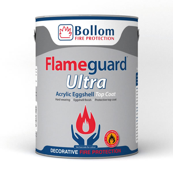 Bollom Flameguard Ultra Acrylic Eggshell Topcoat Custom Mixed Colours 5L