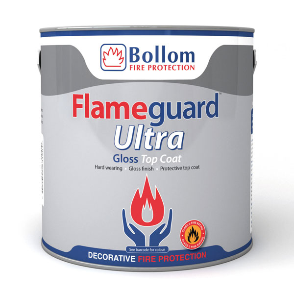 Bollom Flameguard Ultra Gloss Topcoat White 2.5L