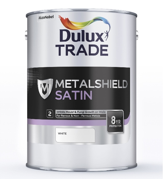 Dulux Trade Metalshield Satin Finish Black or White