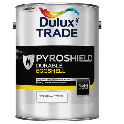 Dulux Trade Pyroshield Durable Eggshell Pure Brilliant White 5 Litres