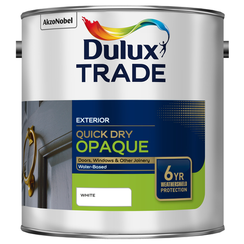 Dulux Trade Quick Dry Opaque Black or White