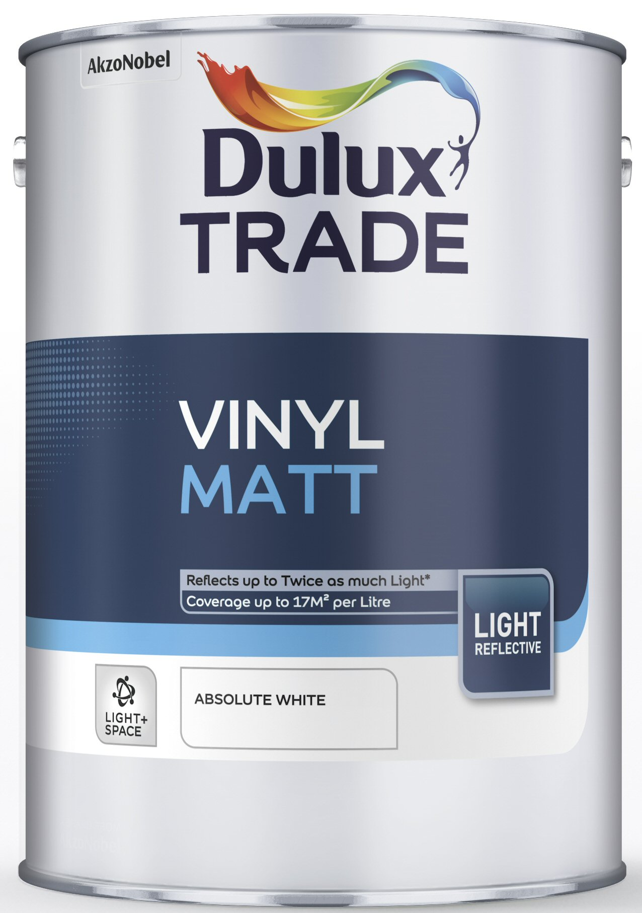 Dulux Trade Vinyl Matt Light Amp Space Absolute White 5l
