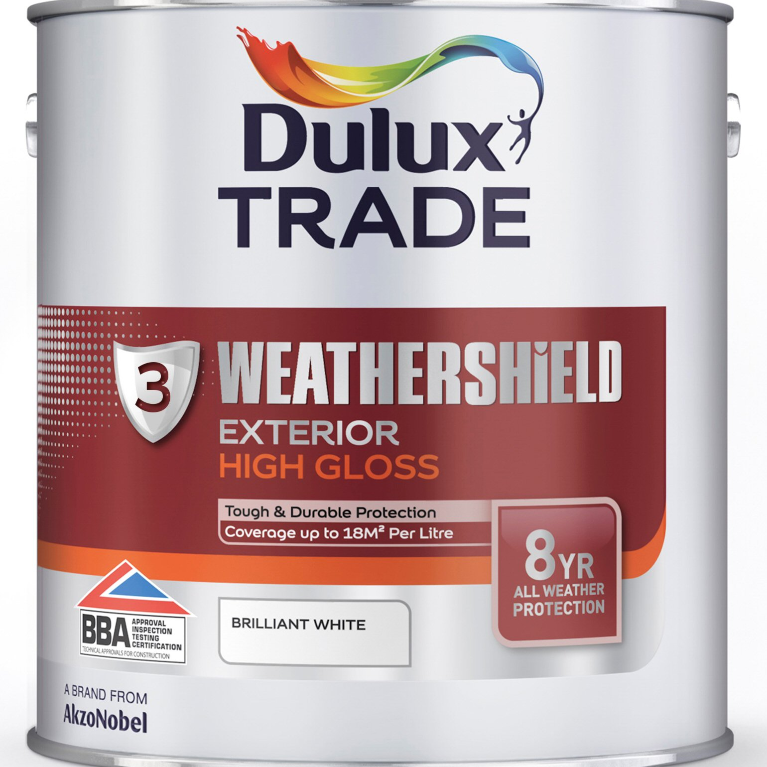 Dulux Trade Weathershield Exterior High Gloss Black or White