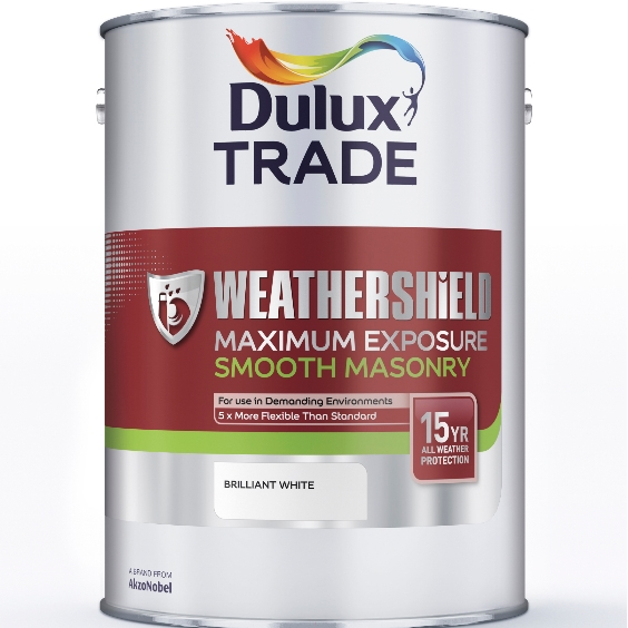 Dulux Trade Weathershield Maximum Exposure Smooth Masonry Custom Mixed Colours 5L