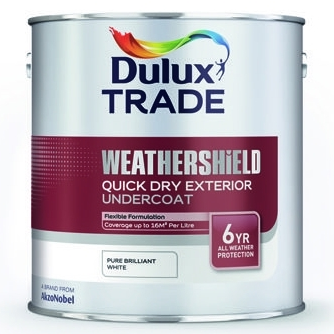 Dulux Trade Weathershield Quick Dry Exterior Undercoat Pure Brilliant White