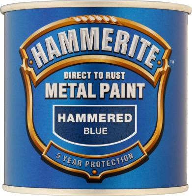 Hammerite Direct To Rust Metal Paint Hammered Finish Black 5L