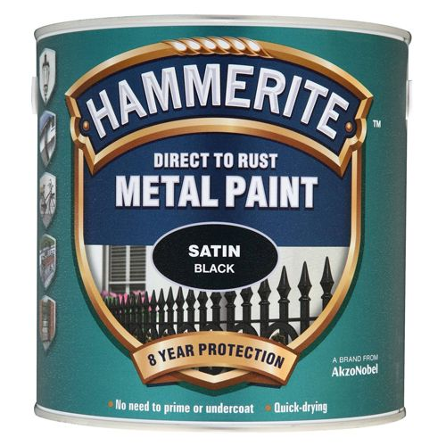 Hammerite Direct To Rust Metal Paint Satin Finish