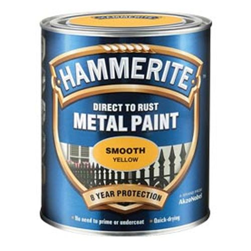 Hammerite Direct To Rust Metal Paint Smooth Finish Standard Colours 750ml
