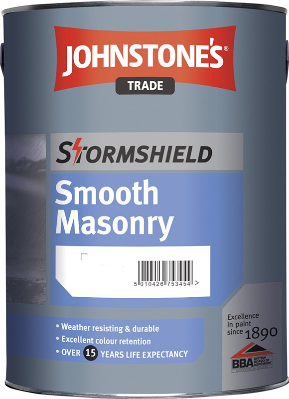 Johnstone's Stormshield Smooth Masonry Custom Mixed Colours 5L