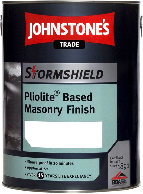 Johnstones Trade Stormshield Pliolite Brilliant White 5L