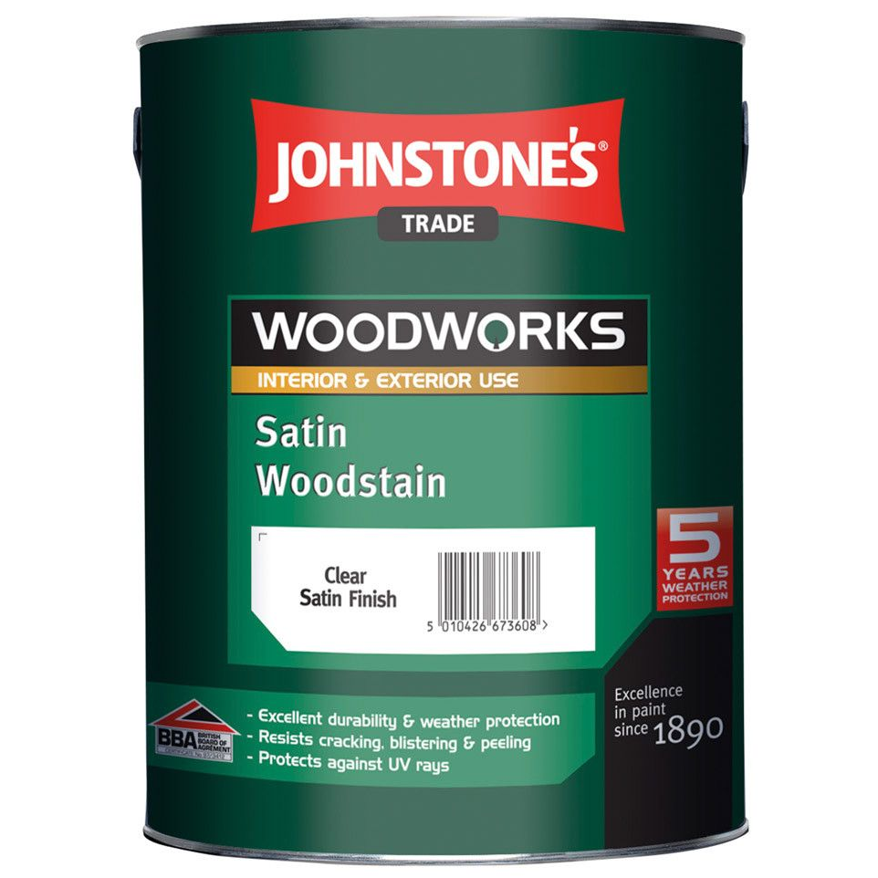 Johnstones Trade Woodworks Satin Woodstain 5L