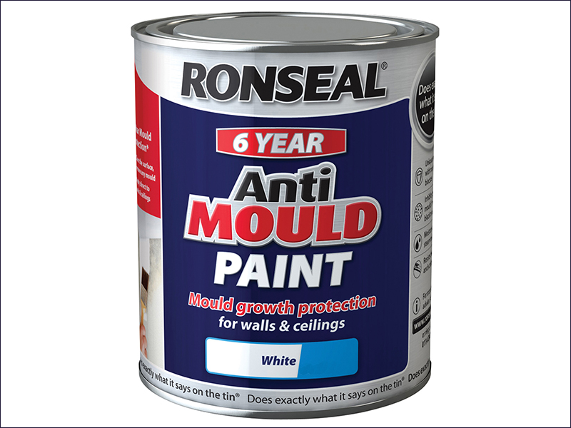Ronseal Anti Mould Paint White Silk 2.5 Litre
