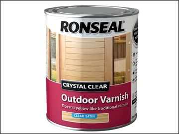 Ronseal Crystal Clear Outdoor Varnish Satin 750ml