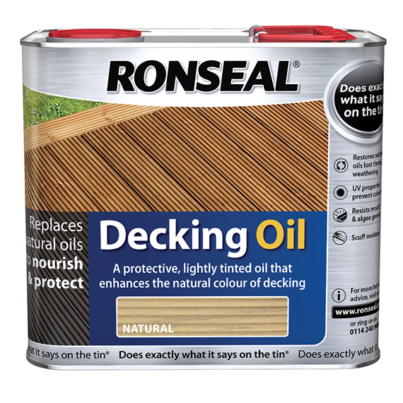 Ronseal Decking Oil Natural Pine 2.5 Litre