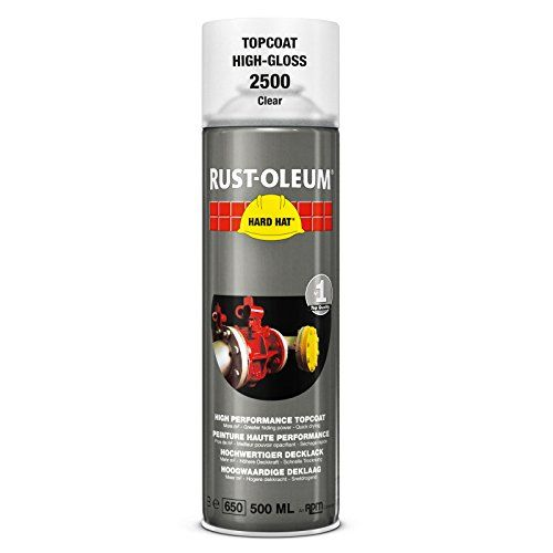 Rustoleum Hard Hat 2500 Aerosol Transparent Topcoat 500ml