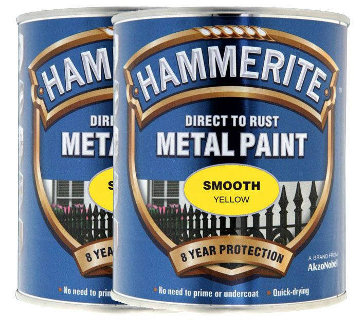 Twin Pack of Hammerite Smooth Metal Paint 2.5L Special Price