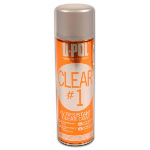 UPOL Clear#1 High Gloss Clear Coat M.I.R. Compliant 450ml Aerosol
