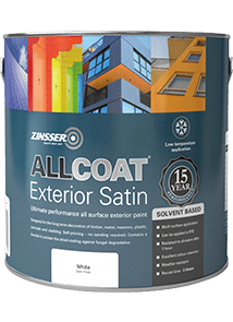 Zinsser AllCoat Exterior SB Satin Custom Mixed Colours