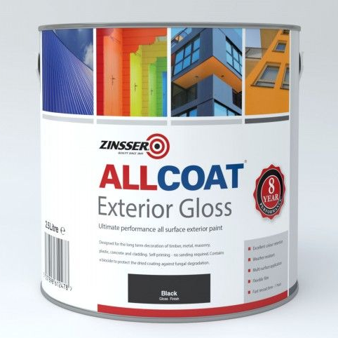 Zinsser AllCoat Exterior WB Gloss Paint Custom Mixed Colours