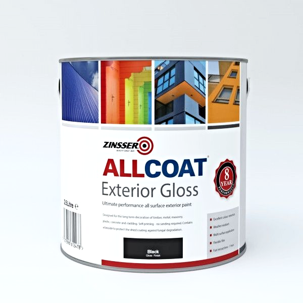 Zinsser AllCoat Exterior WB Gloss Paint Standard Colours
