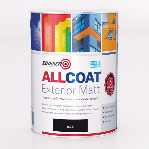 Zinsser AllCoat Exterior WB Matt Paint Standard Colours